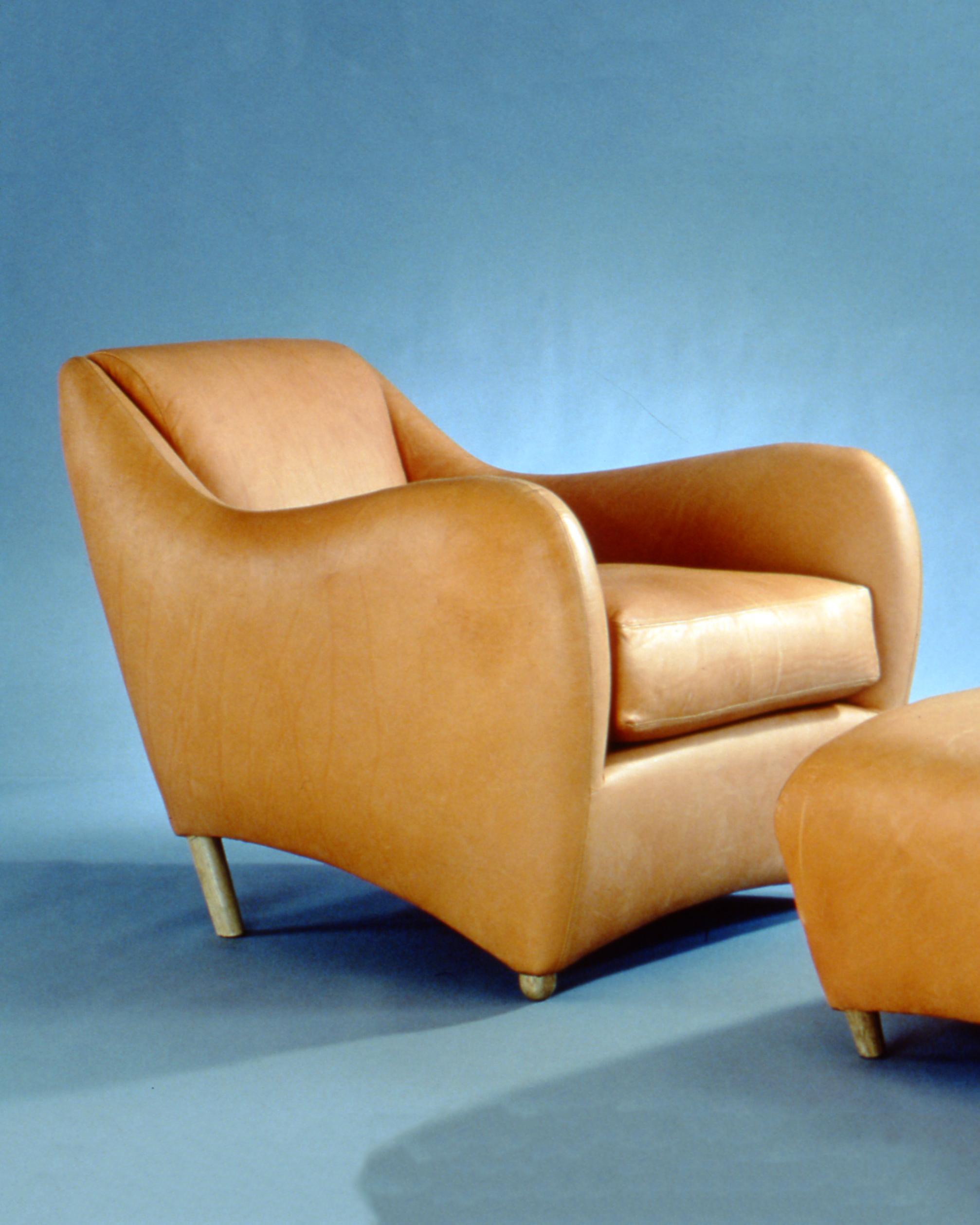 1990-s_early-studio-shoo_balzac-armchair-and-ottoman