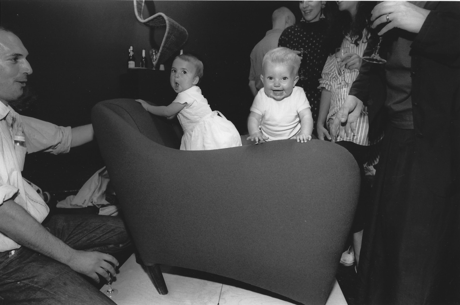 1991-balzac-image-an-early-version-of-the-balzac-armchair-on-show-at-scp-curtain-road-in-1991.-featuring-sheridan-s-daughter-and-a-friend